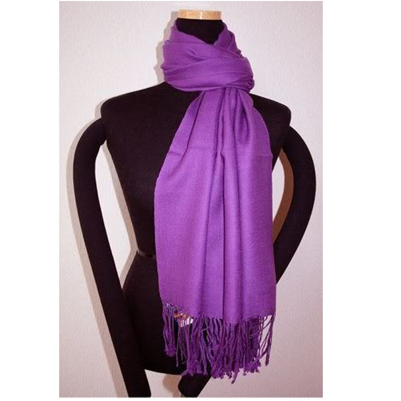 Free Shipping Purple New Chinese Women's Silk Pashmina Shawl Scarf Wrap Scarves WS008-D