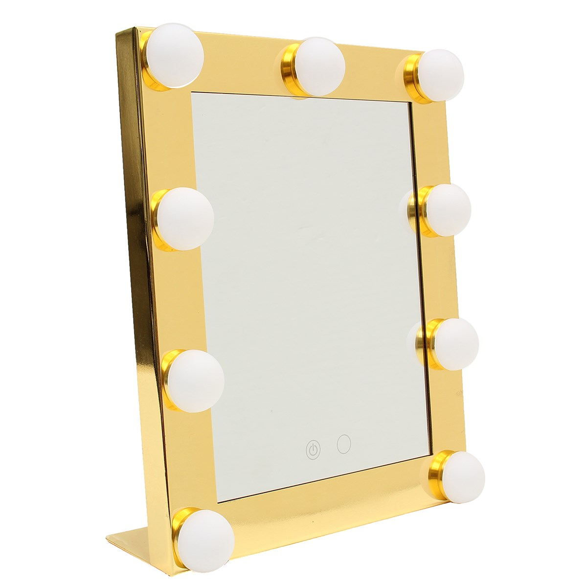 Make Up Store Vanity Tabletops Makeup Mirror With 9 LED Bulb Lights Touch Stage Screen Beauty Mirror Adjustable Cosmetic Tool