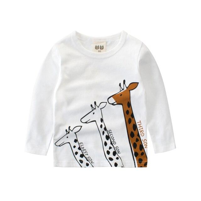 1f194c7fa Girl Clothes giraffe long sleeve tshirt boys Cotton t-shirt kids clothes  funny girls t shirt kid Boy shirts children clothing