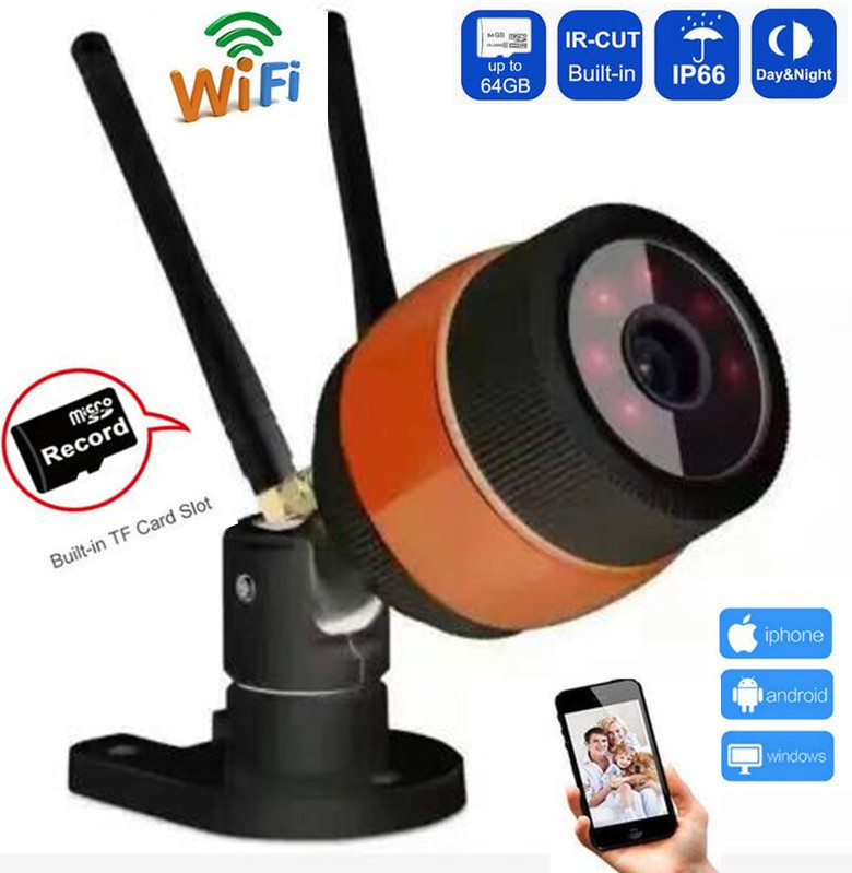 720P/960P Wireless Outdoor Bullet IP Camera Waterproof WIFI CCTV Security IRcut Camera TF Card Slot Yoosee APP Double antenna wistino 1080p 960p wifi bullet ip camera yoosee outdoor street waterproof cctv wireless network surverillance support onvif