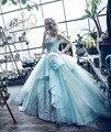 NewMint Azul del vestido de Bola Vestidos de Quinceañera 2017 Vestidos de La Princesa de Cristal Vestido de Fiesta 2017 Vestidos de Bola Formal Ocasión Especial Vestido