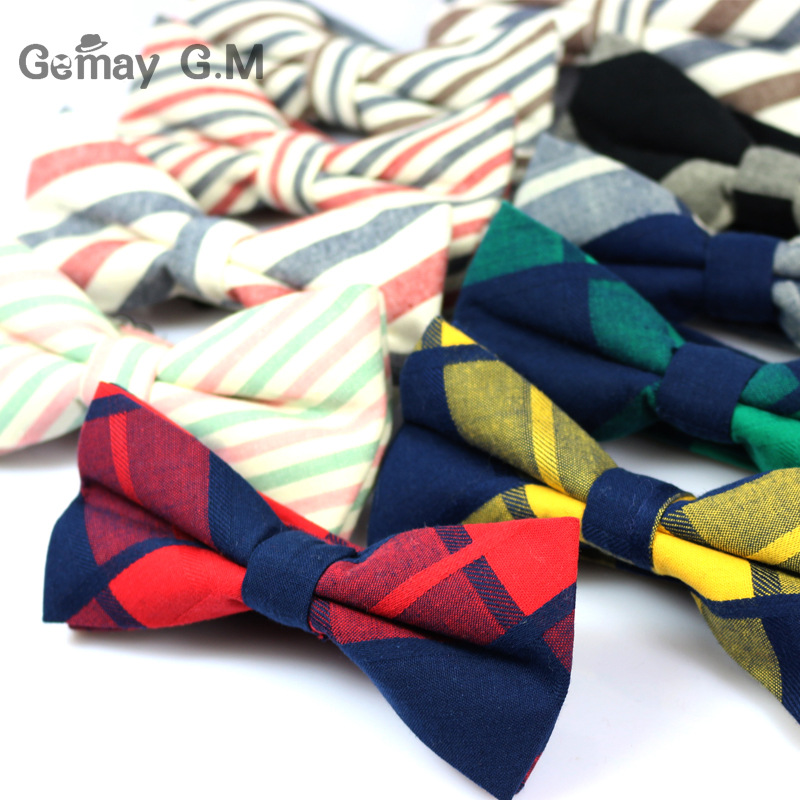 New Arrive Cotton Bowtie för män Casual Mode Pläd Bow bowies Designer Cravat Smycken Multicolor Unisex Cotton Men suit Bow Bow