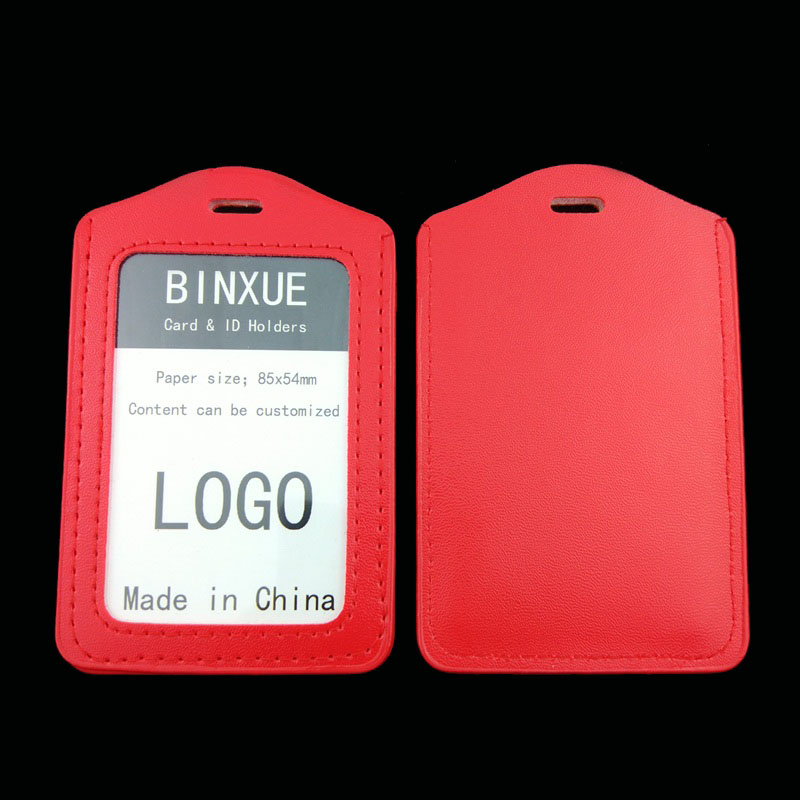 BINXUE Cover Card ID Holders Work card identification tag badge Multi color plastic clip Vertical section bag Customizable in Card ID Holders from Luggage Bags