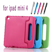 Compare Prices for ipad mini 4 case Kids Children Safe EVA Foam Shockproof Handle Silicon Stand Case Cover For Apple iPad Mini 4 Shell