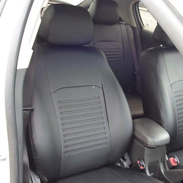Для Skoda Fabia 2 2010-2014 хэтчбек специальные чехлы на сиденья полный комплект модель Турин эко-кожа
