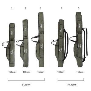 Image 2 - FDDL 120CM 130CM 150CM 휴대용 접이식 낚시대 가방 다목적 캐리어 캔버스 낚시대 유혹 도구 보관 가방 케이스