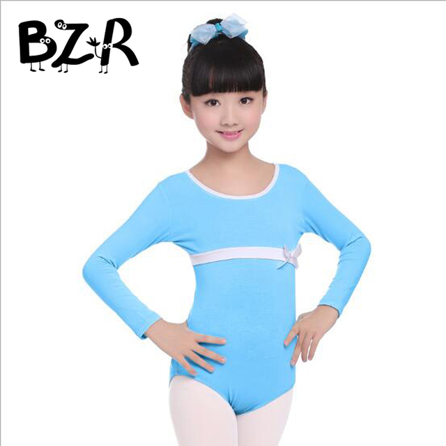 75edc3d17 Cotton Kid Girl Short Sleeve Long Sleeve Dance Gymnastics Leotards ...