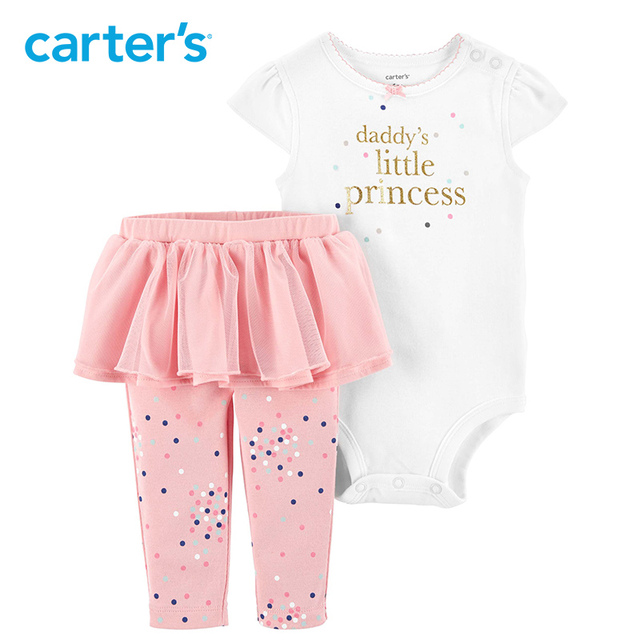 cd806d905 Carters baby girl clothes 2-Piece Princess Bodysuit & Tutu Pant Set Cute  letter print baby clothing 15952811