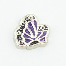 Free shipping! february  Butterfly birthstone floating charms Enamel Alloy  Suitable for making glass living locket 10pcs/lot