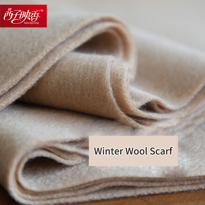 Solid 2018 Luxury Winter Scarf Women Thicken Warm Scarves Winter Wool Scarf Female Wrap Pashmina Tassels Solid Color Scarf