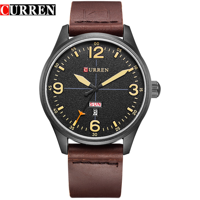 CURREN Brand 2017 Analog Quartz Watch Men Waterproof Fashion Casual Sports Watches Man Leather Wristwatches Relogio Masculino 2017 new top fashion time limited relogio masculino mans watches sale sport watch blacl waterproof case quartz man wristwatches