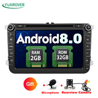 Funrover 2 Din 8 Inch Car Dvd For VW Volkswagen Passat POLO GOLF Skoda Seat Leon