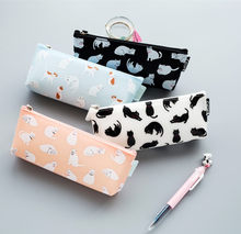 Fashion Creative Stationery Cute Cat pencil cases High quality Pencil case Pencil Bag Students Gift School & Office Supplies(China)