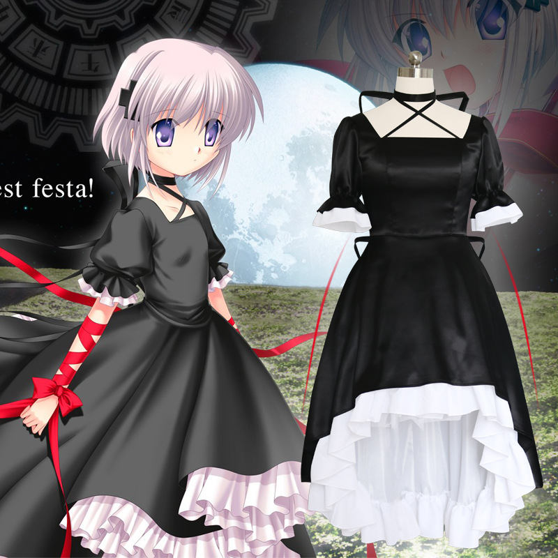 Anime Rewrite Harvest Festa Kagari Cosplay Costume Dress Moon Terra Girls Woman Halloween Party Masquerade Costumes Fancy Dress