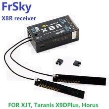 Livraison gratuite FrSky 2.4G S. Port 8/16ch télémétrie récepteur X8R pour XJT, Taranis X9DPlus, Horus X12S, SMARTPORT et fonction SBUS