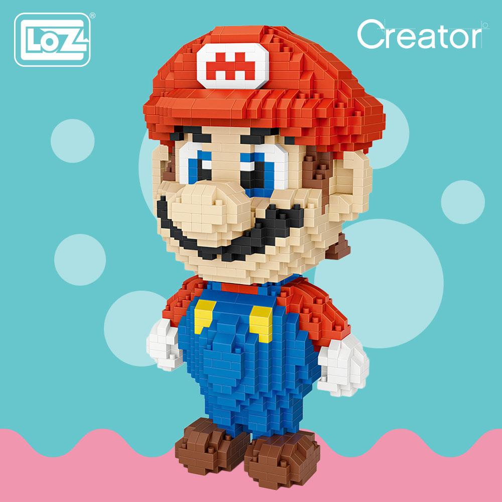 LOZ Diamond Blocks Japanese Anime Action Figures Pixels Micro Bricks Building Blocks Toys for Children Educational Creator 9040