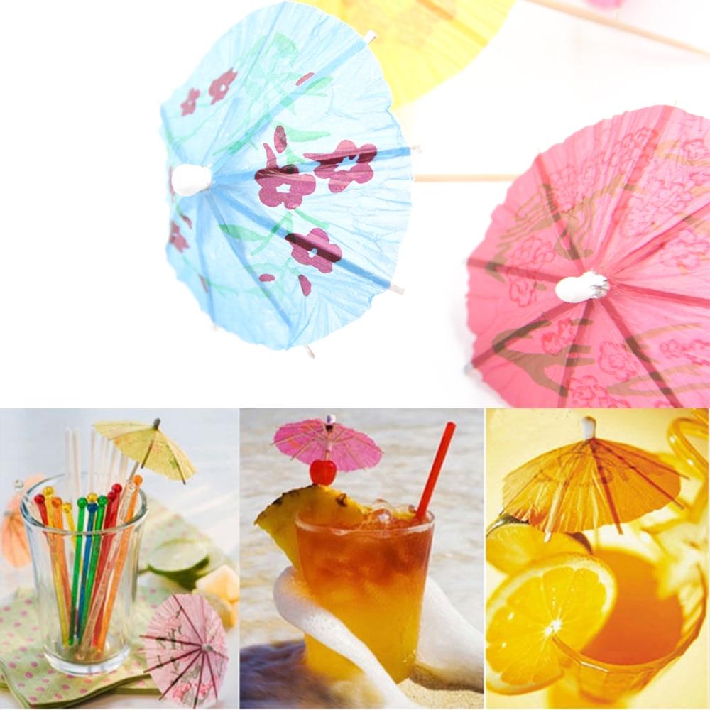 10 Packl COCKTAIL DRINKS UMBRELLA Parasol Party Picks Sticks Cocktail Summer