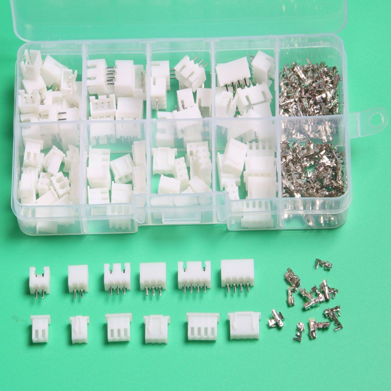 60 Sets 2p 3p 4 Pin 5pin Xh 2.54mm Pitch Terminal Housing Pin Header Terminal Connector With Box Connector