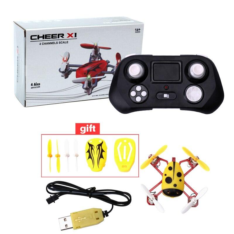 Cheer X1 Populyar Mini Uçan Uçan Ladybird RC Quadcopter 2.4G 4CH - Uzaqdan idarə olunan oyuncaqlar - Fotoqrafiya 2