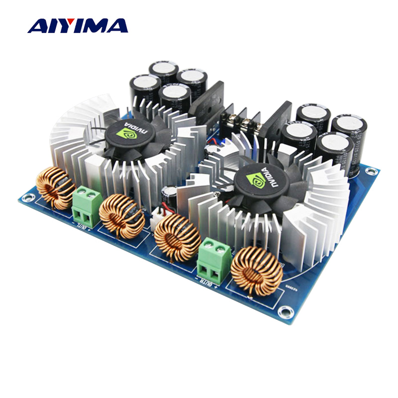 Aiyima TDA8954TH Digital Audio Amplifier Board 420W*2 High Power Two-channel Amplificador Dual AC24V