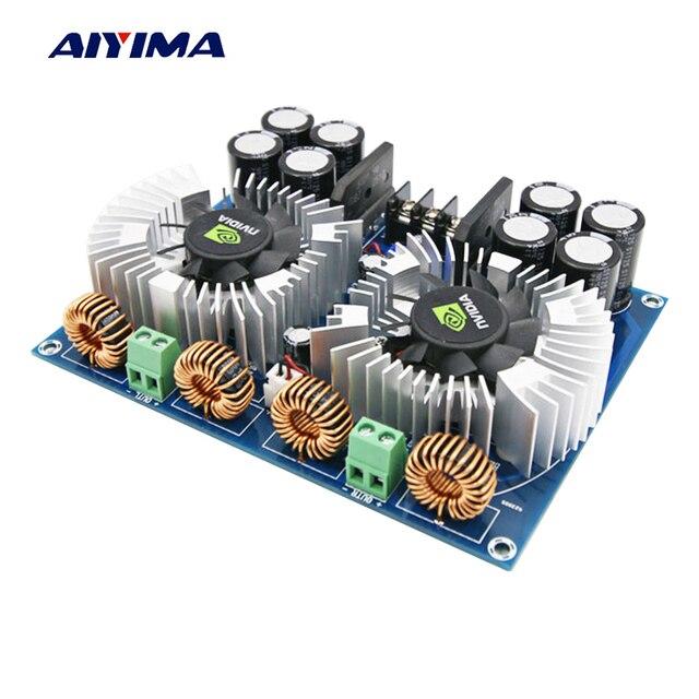 Aiyima tda8954th цифровой аудио Усилители домашние доска 420 Вт * 2 высокая Мощность двухканальный amplificador двойной AC24V