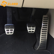 Stainless Steel Pedal Pads Foot Rest for Skoda Octavia A5 for Volkswagen VW Golf 6 Jetta MK5 Scirocco Tiguan 2015