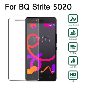 Image 1 - For BQ Strike 5020 Tempered Glass For BQ Strike 5020 2.5D 9H Premium Screen Protector Toughened Glass Anti glare Guard Film Case
