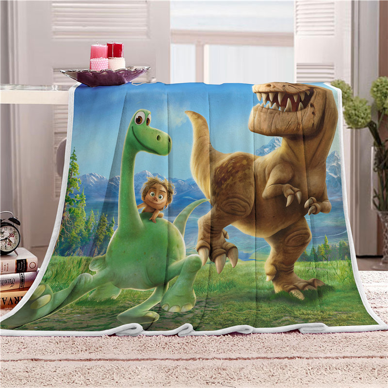 Dinosaurs Throw Blanket Soft Fleece Throw Blanket Warm Cozy Bed Awesome Dinosaur Throw Blanket