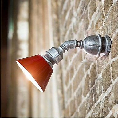 Iron Painting LED Vintage Water Pipe Wall Lamp For Home Lighting LED Wall Sconce Arandelas Style Loft Industrial Lighting ...