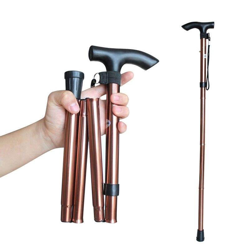 Mobilitätshilfen Obligatorisch Einstellbare Fuß Stick Für Ältere 5-abschnitt Leichte Aluminium Legierung Spazierstock Trekking Pole Bergstock Outdoor Ccp079