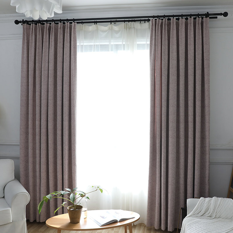Modern Jacquard Print Curtains Living Room Bedroom Curtains Treatments Chenille Curtains Home Decor