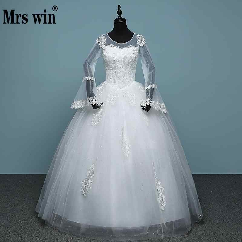 2018 New Arrival Mrs Win Full Sleeve Winter Wedding Dress Lace Up Ball Gown Simple Embroidery Robe De Mariee Bridal Dress Bridal Dress Winter Wedding Dresswedding Dress Lace Aliexpress,Formal Dresses For Wedding In Pakistan