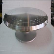 Dekorieren aluminium rund drehung der drehteller 25 cm Sugarcraft Kuchen Dekoration plattenspieler stand
