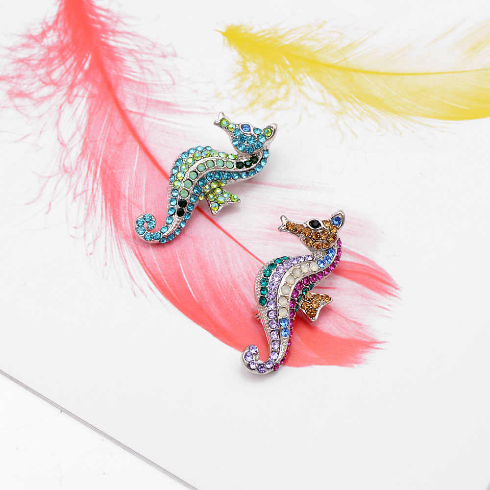 CINDY XIANG strass hippocampe broche multicolore mer animaux broches plage bijoux été broches pour femmes manteau robe épingles cadeau