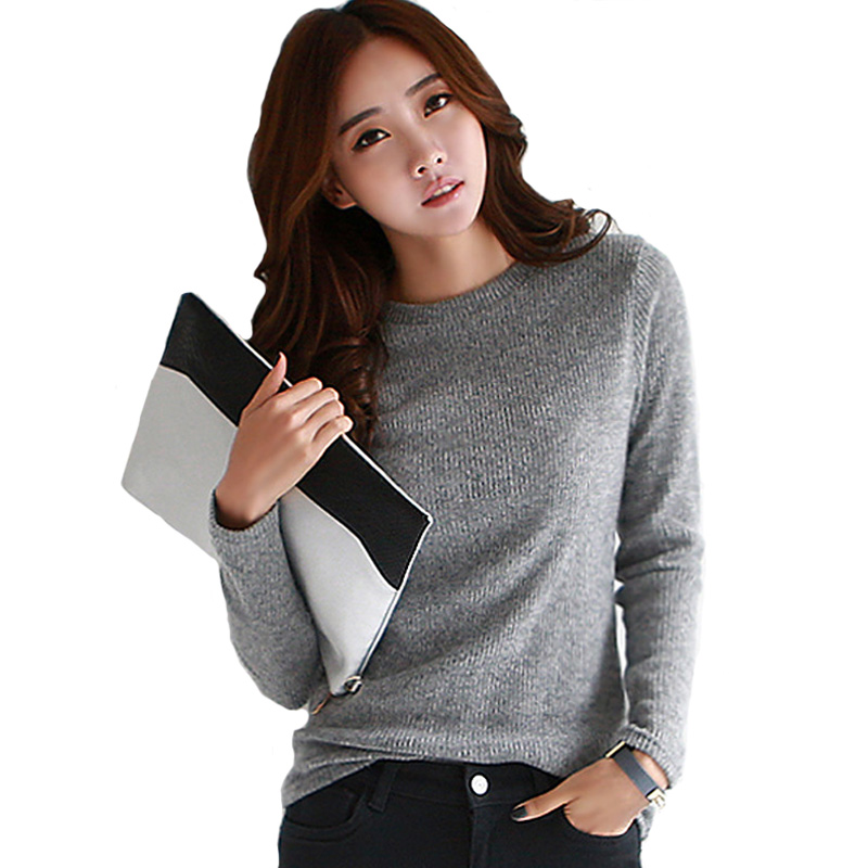 2016 Spring Autumn Sweater Women Long Sleeve Knitted ...