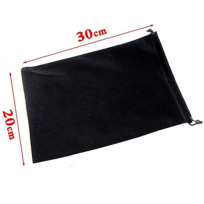 Wholesale 30pcs/lot 20x30cm Big Size Drawable Drawstring Velvet Bags For Tablet PC Christmas Gift Wedding Packing Bag Book Bags