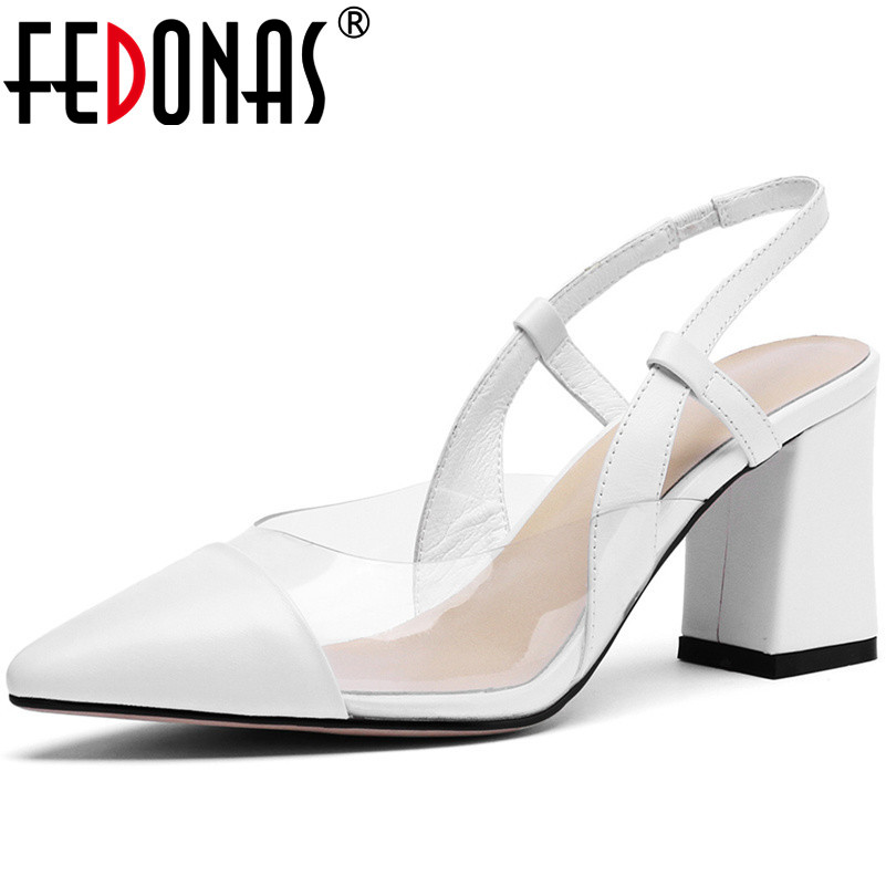 FEDONAS 2019 New Women Summer Sandals Fashion Genuine Leather High Heels Shoes Sexy Dress Party Office Wedding Prom Shoes Woman FEDONAS 2019 New Women Summer Sandals Fashion Genuine Leather High Heels Shoes Sexy Dress Party Office Wedding Prom Shoes Woman