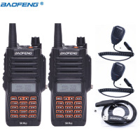 2pcs Baofeng UV 9R Plus IP67 Waterproof 8W 10KM Long Range Powerful Walkie Talkie CB Radio