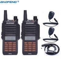 2pcs Baofeng UV 9R Plus IP67 Waterproof 8W 10KM Long Range Powerful Walkie Talkie CB Radio