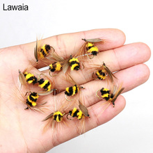 Lawaia Fishing Lure Bumble Bee Fly Bionic Bait Baits Length About 15mm 10 Hook Mini Tackle