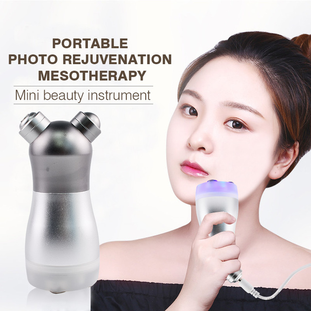 Facial LED Photon RF Radio Frequency Beauty Device Face Lift Up No Needle Mesotherapy Skin Rejuvenation Face Massager Salon Care