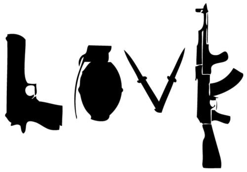 Banksy Stencil Love Weapons Mylar A4 297x210mm Wall