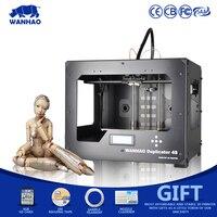 Прямая продажа с фабрики Маркетинг 3D-принтеры wanhao D4S MK7, двойной экструдер, полностью закрытый корпус с двумя Настольный персональный настол...