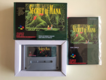 16Bit Giochi ** Segreto di Mana 1 (di Lingua Francese PAL Versione!! Box + manuale + cartuccia!!)