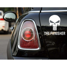 Aliauto The Punisher Funny Skull Car Stickers Decal for Toyota Ford Focus Chevrolet Volkswagen polo golf