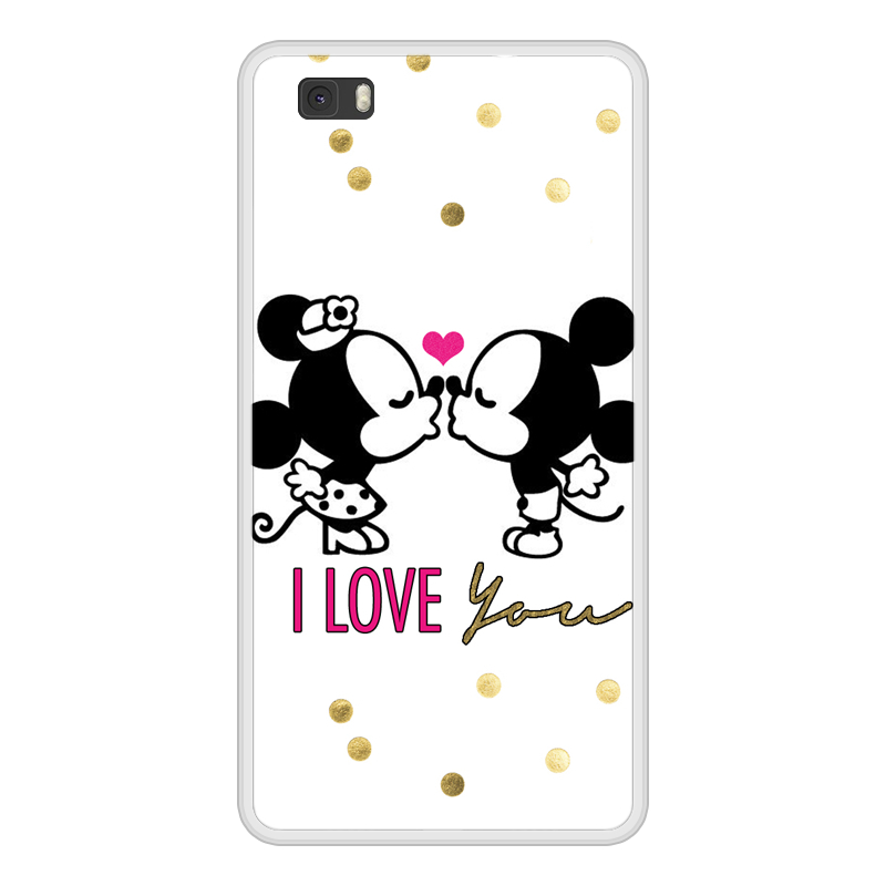 Case For Huawei P8 P 8 Lite Lite Soft Silicone TPU Mickey Minnie Painted Cover Coque For Huawei P8 Lite ALE L21 Phone Case
