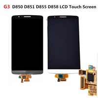 XIANHUAN Black White Gold LCD Display Touch Screen Digitizer Assembly For LG G3 D855 D850 Free
