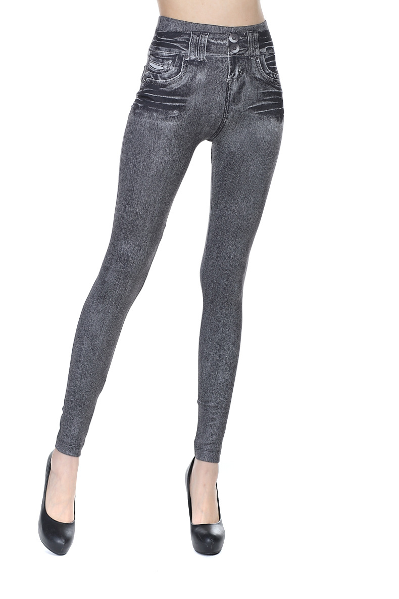 Ladies Denim Skinny Trousers Slim Jeggings Fitness Women High Waist Pencil Denim Jeans Long Pants Slim Skinny Leggings Pocket in Leggings from Women 39 s Clothing