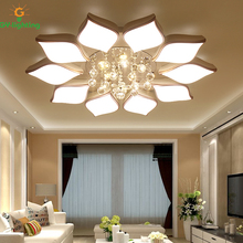 GY-Lighting Modern LED Ceiling lights Creative Crystal lighting Simple Living Room Lamps Warm Flowers Lamp