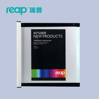 Reap 3100 Shopia Acrylic 210 297mm Indoor Horizontal Wall Mount Sign Holder Display INFO Poster Elegant